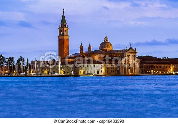 San giorgio maggiore iglesia en Venecia Italia - csp46483390