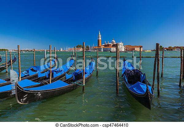 San giorgio maggiore iglesia en Venecia Italia - csp47464410