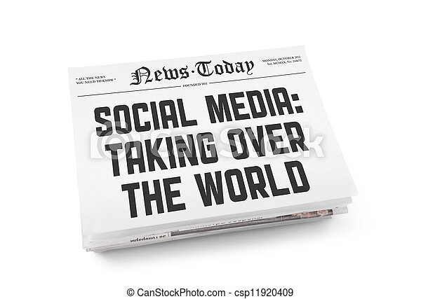 giornale, media, concetto, sociale - csp11920409