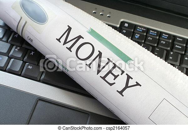 giornale, soldi, sezione - csp2164057