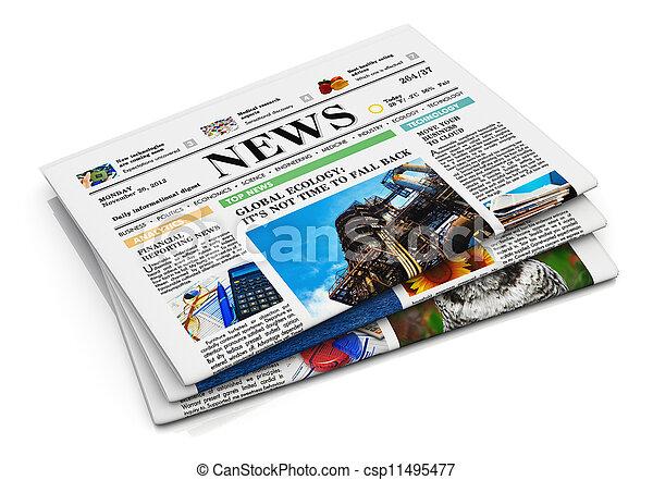 giornali, pila - csp11495477