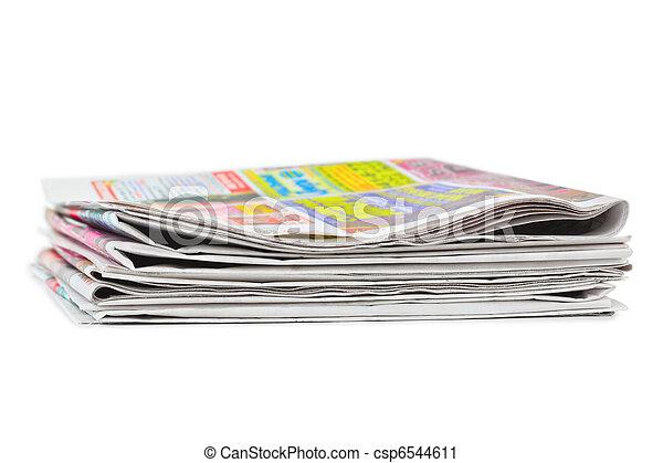 giornali, pila - csp6544611
