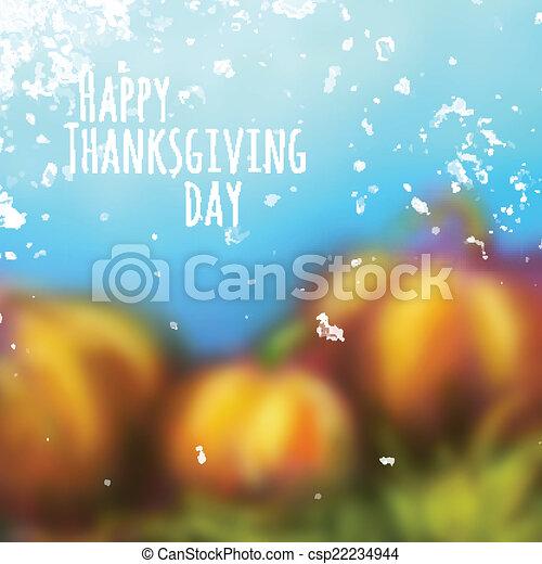 giorno, fondo, vettore, ringraziamento, autunno - csp22234944