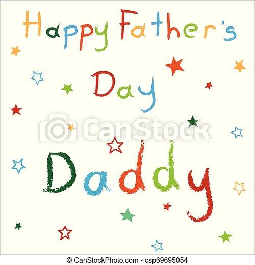 giorno padre, scheda, felice - csp69695054
