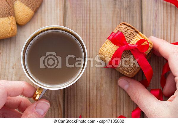 giorno, romantico, sagoma, valentine - csp47105082
