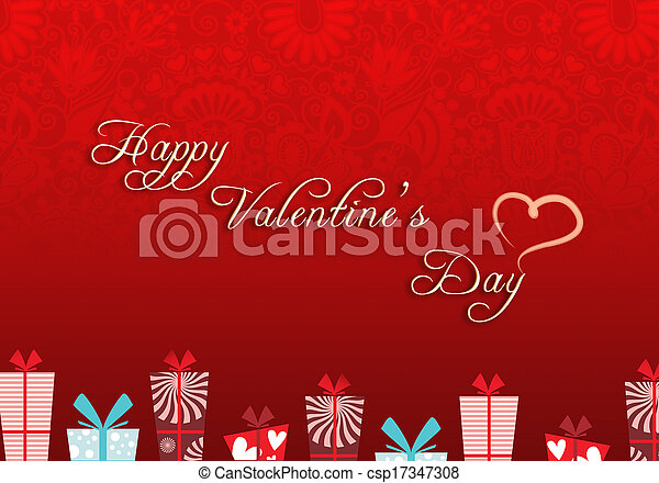 giorno, valentines, fondo - csp17347308