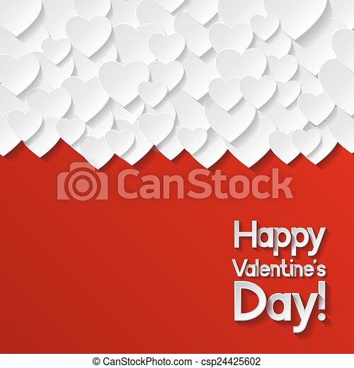 giorno valentines, scheda, augurio - csp24425602