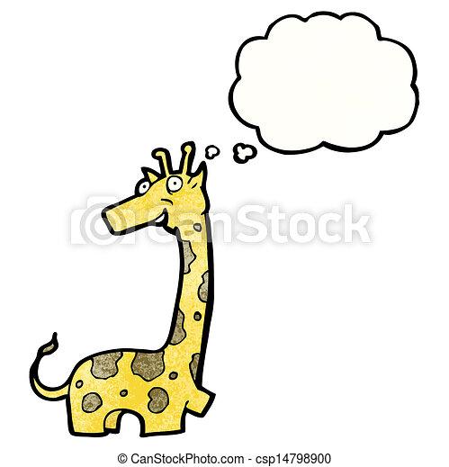 girafe, dessin animé - csp14798900