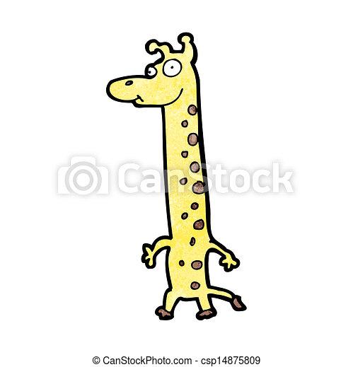 girafe, dessin animé - csp14875809