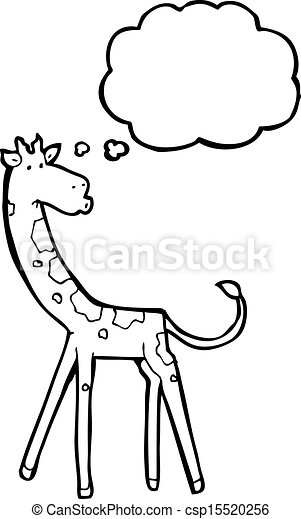 girafe, dessin animé - csp15520256