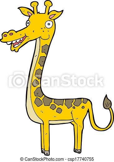 girafe, dessin animé - csp17740755