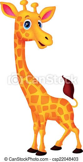 girafe, dessin animé - csp22048403