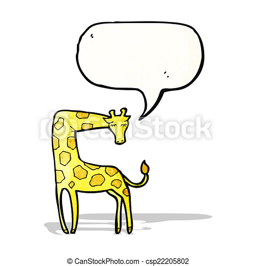girafe, dessin animé - csp22205802