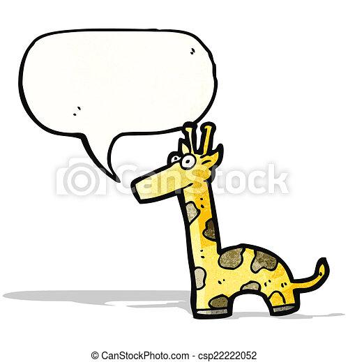 girafe, dessin animé - csp22222052