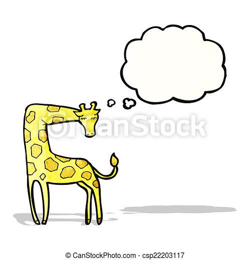 girafe, dessin animé - csp22203117