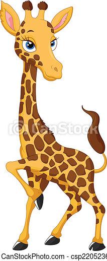 girafe, dessin animé - csp22052360