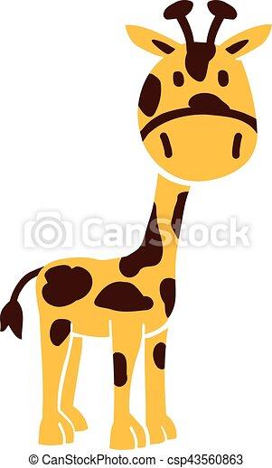 girafe, dessin animé - csp43560863