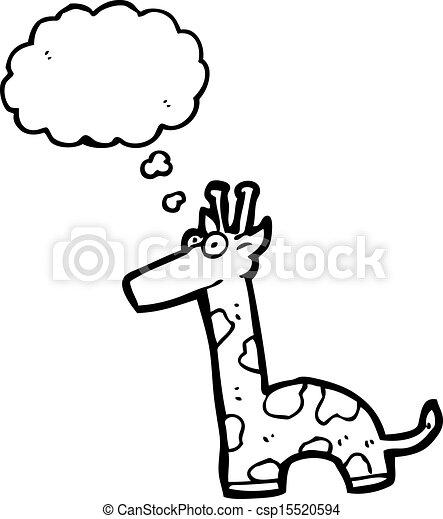 girafe, dessin animé - csp15520594