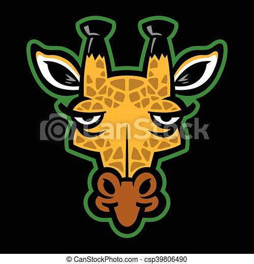 girafe, dessin animé - csp39806490