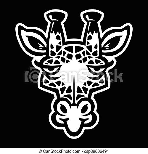 girafe, dessin animé - csp39806491