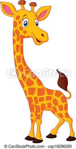 Dessin Girafe Rigolote girafe, dessin animé, heureux. girafe, vecteur, dessin animé