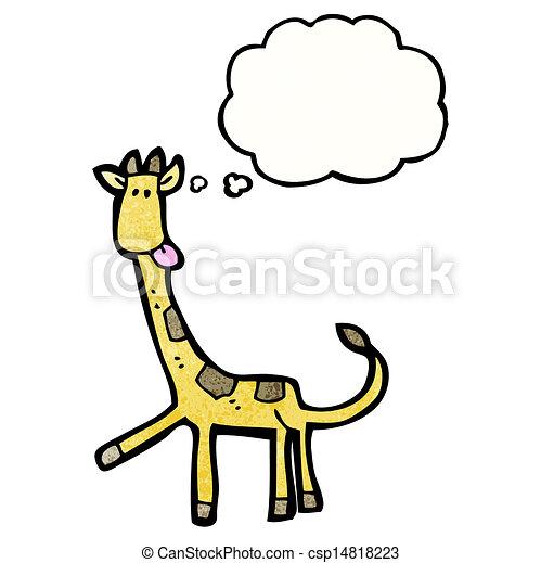 girafe, dessin animé - csp14818223