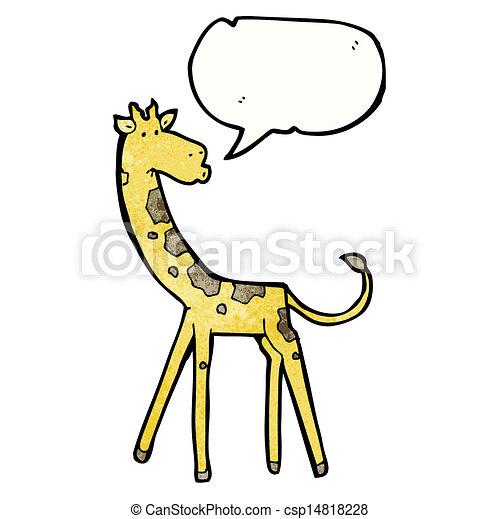 girafe, dessin animé - csp14818228