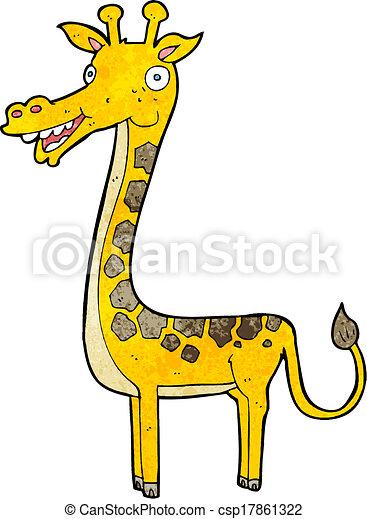 girafe, dessin animé - csp17861322