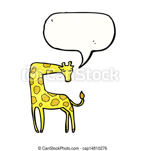 girafe, dessin animé - csp14810276