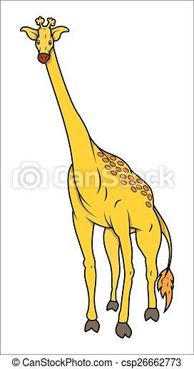 girafe, dessin animé - csp26662773