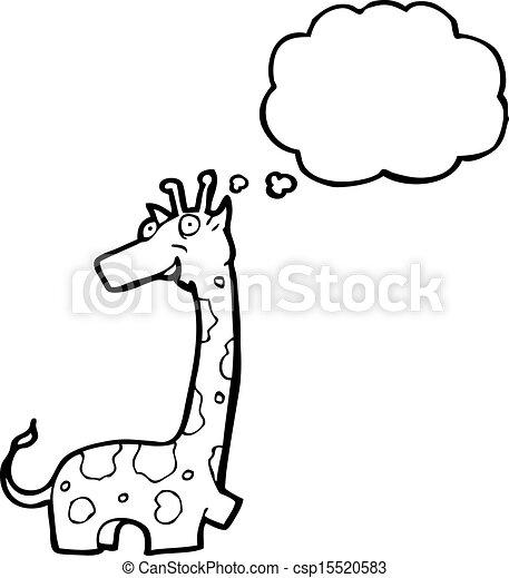 girafe, dessin animé - csp15520583