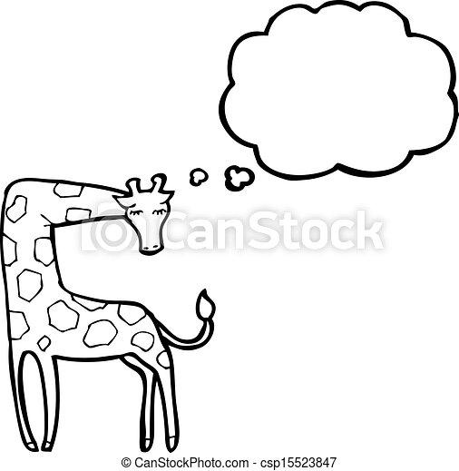 girafe, dessin animé - csp15523847