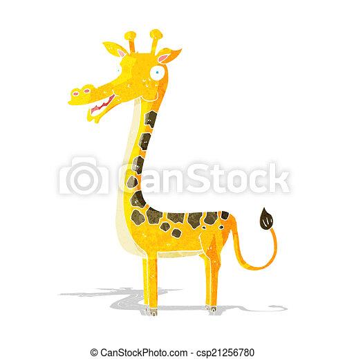 girafe, dessin animé - csp21256780