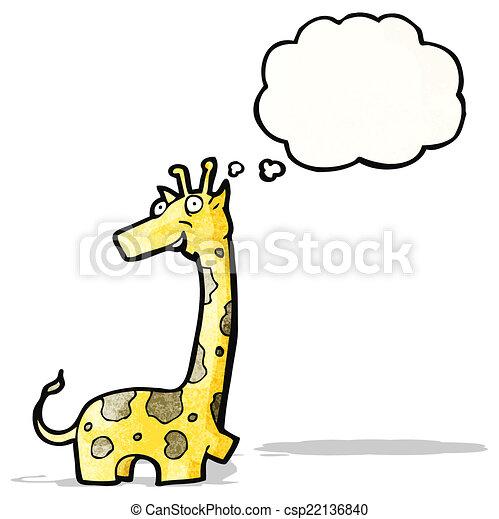 girafe, dessin animé - csp22136840