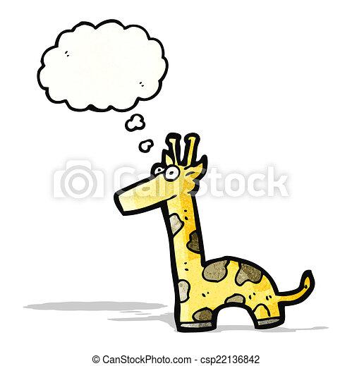 girafe, dessin animé - csp22136842