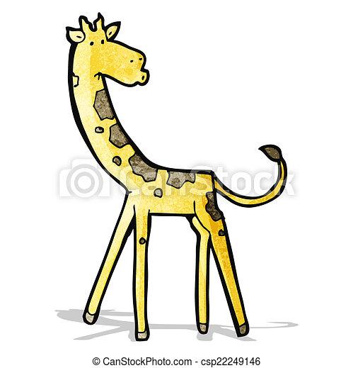 girafe, dessin animé - csp22249146