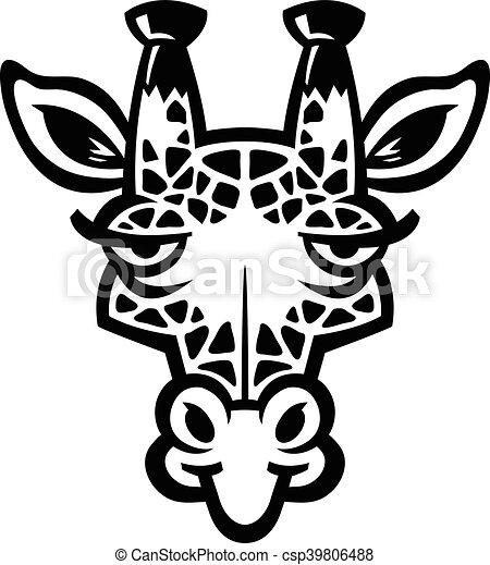 girafe, dessin animé - csp39806488