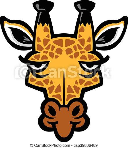 girafe, dessin animé - csp39806489