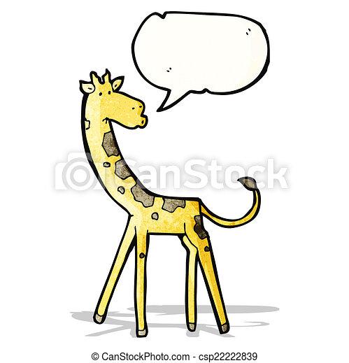 girafe, dessin animé - csp22222839