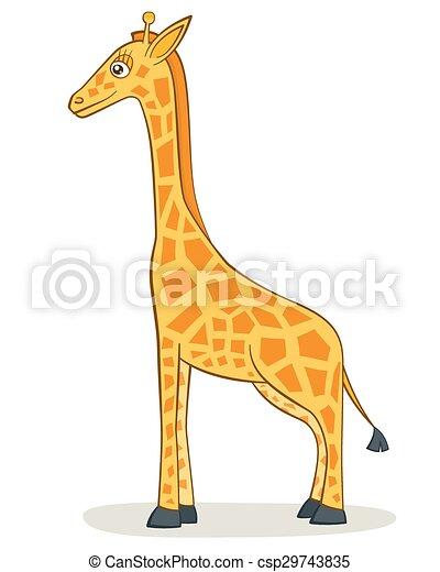 girafe, dessin animé - csp29743835