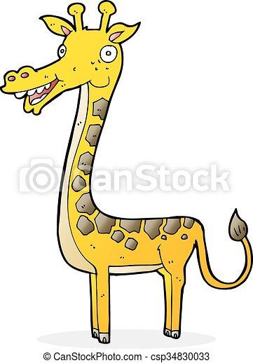 girafe, dessin animé - csp34830033