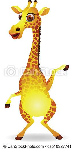 Vettore giraffa cartone animato illustrazione - Cartone animato giraffe immagini ...