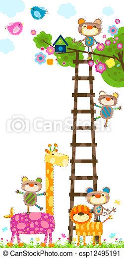 giraffe and tree - csp12495191