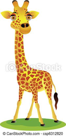 Giraffe cartoon - csp6312820