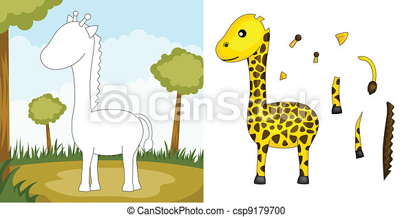 Giraffe puzzle - csp9179700
