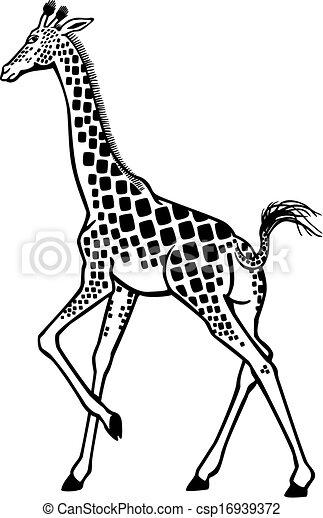 Giraffe Running Stylized Vector Illustration Of A Giraffe Running