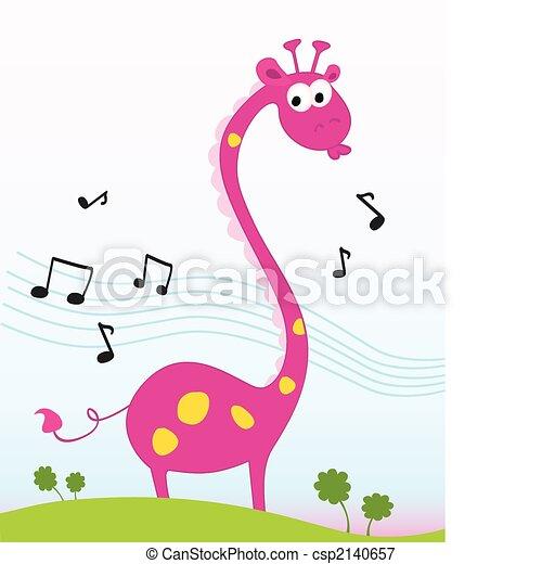 giraffe, singende - csp2140657