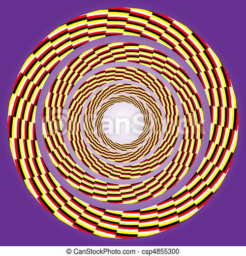 girar, excêntrico, circle. - csp4855300