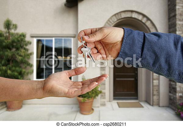 giren, stämm, hus, över, färsk, främre del, hem - csp2680211