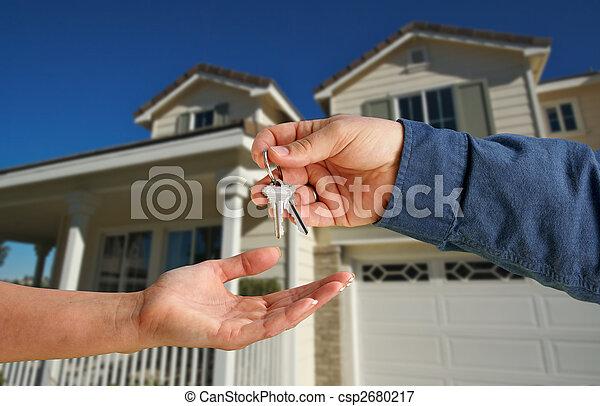 giren, stämm, hus, över, färsk, främre del, hem - csp2680217